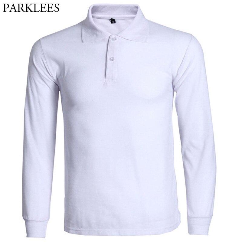 Moda polo camisa masculina masculina 2017 nova marca dos homens fino ajuste manga longa polo camisas de algodão casual polos hombre 3xl