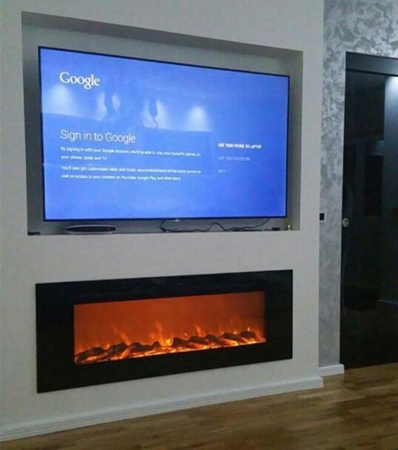 Livraison gratuite à Canada mur monté cheminée électrique pour la ...