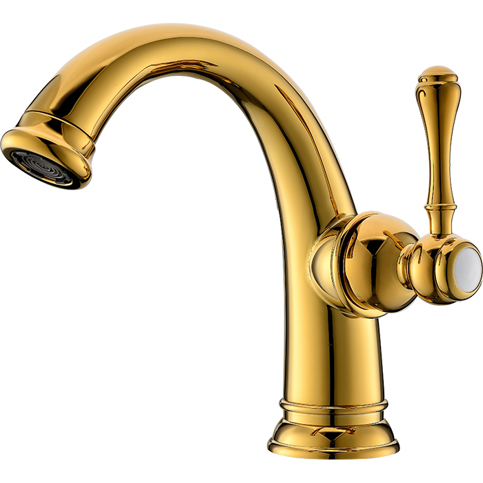 GOLD PVD clour solid brass Single handle bathroom basin sink faucet mixer tap NEW free shipping gold clour solid brass bathroom sink faucet new bathroom mixer tap square design