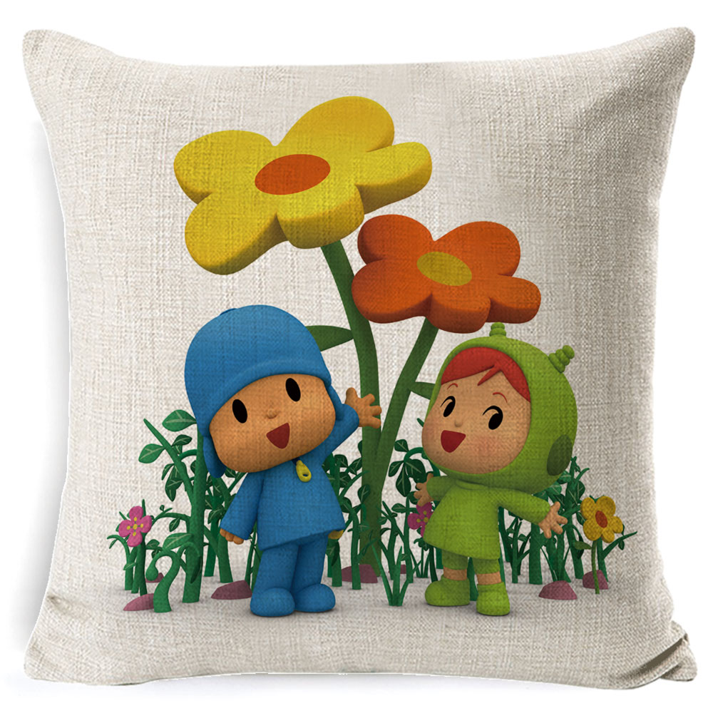 PEIYUAN-Pocoyo-Elly-Pato-Loula-Pocoyo-Dog-Duck-Cushion-Cover-Square-Plain-Multicolor-Pillowcase-Pillowsilp-for (2)