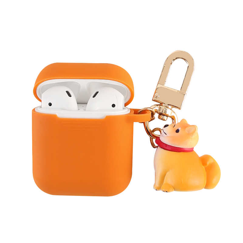 Cute Dog Wireless Bluetooth Earphone Case For Apple AirPods Silicone Charging Headphones Cases For Airpods Protective Cover