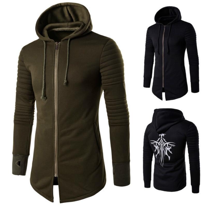 Autumn Winter New Mens Hooded Jackets Zipper Coat Fashion Cardigan Hoodies Hoodie Men Casual Male Tops
