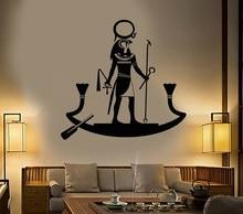 ไวนิลผนังรูปลอกโบราณอียิปต์พระเจ้า Ra ศาสนาอียิปต์ Art Sticker Home Decor ห้องนั่งเล่นห้องนอนสติ๊กเกอร์ติดผนัง 2AJ12