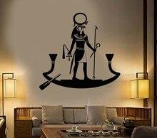 비닐 벽 전사 술 고대 이집트 하나님 ra 종교 이집트 아트 스티커 홈 장식 거실 침실 벽 스티커 2aj12