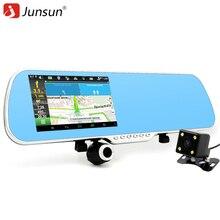 Junsun 5 pulgadas IPS GPS Del Coche Navegación 16 GB DVR Retrovisor espejo Android 4.4 de Doble Cámara de Camión vehículo Navegador gps Europa Navitel