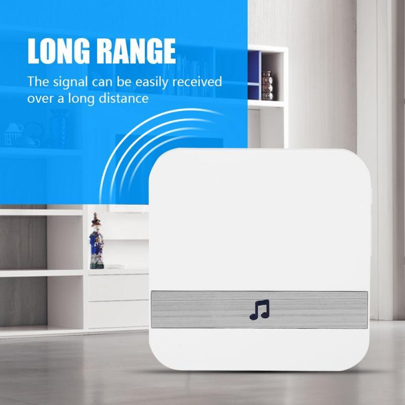AC 110V Wireless Door Ring Music Door Bell Waterproof Intelligent Chime Music Ding Dong Doorbell 52 Chords Ring Tunes Door Chime ks v2 welcom chime bell sensor