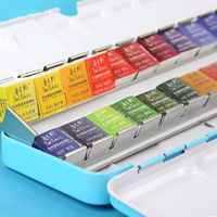 Paul Rubens 12/24/48 Watercolor Paint Set With Metal Case Solid Artist Water Color Painting Pigment For Drawing Art Supplies