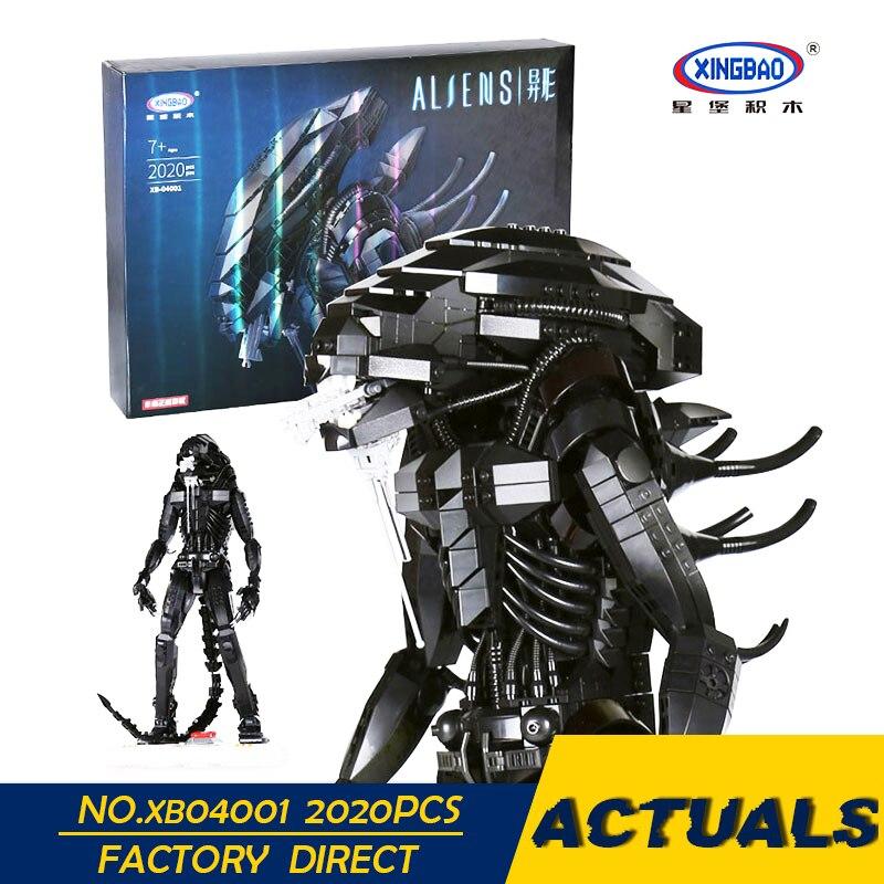 XingBao 04001 2020 шт. натуральная творческий фильм серии инопланетных роботов набор образования детей строительные блоки кирпичи игрушки модель