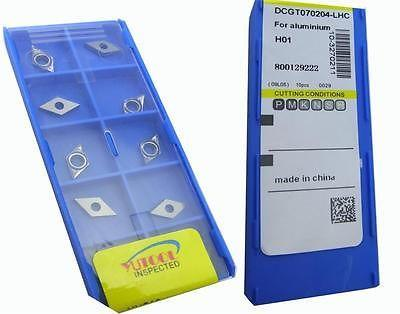 New 50PCS Square DCGT070204-LH ALuminium Carbide Insert Turning cutter insert цена и фото