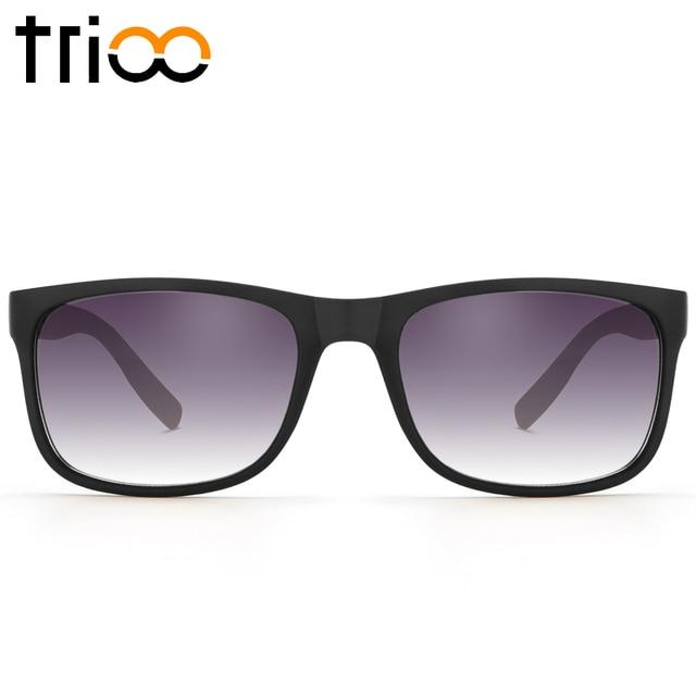 056531188f5 TRIOO Matte Black Sunglasses Men Quality Square Gafas de sol Eyewear  Accessories Lattice Temple Sun Glasses