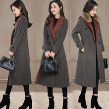 Autumn Winter Women s Wool Coat Solid slim Coat european Fashion female jackets Ladies double breasted