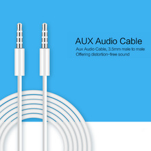 1m Nylon Audio Cable 3.5mm to 3.5 mm Male to Male Jack Auto Car Audio Cable Gold Plug Kabel line Cord For Iphone 7 / Xiaomi spea