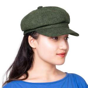 9ca8d5d969f VOBOOM Newsboy Cap Women Retro Vintage Wool Tweed Hat