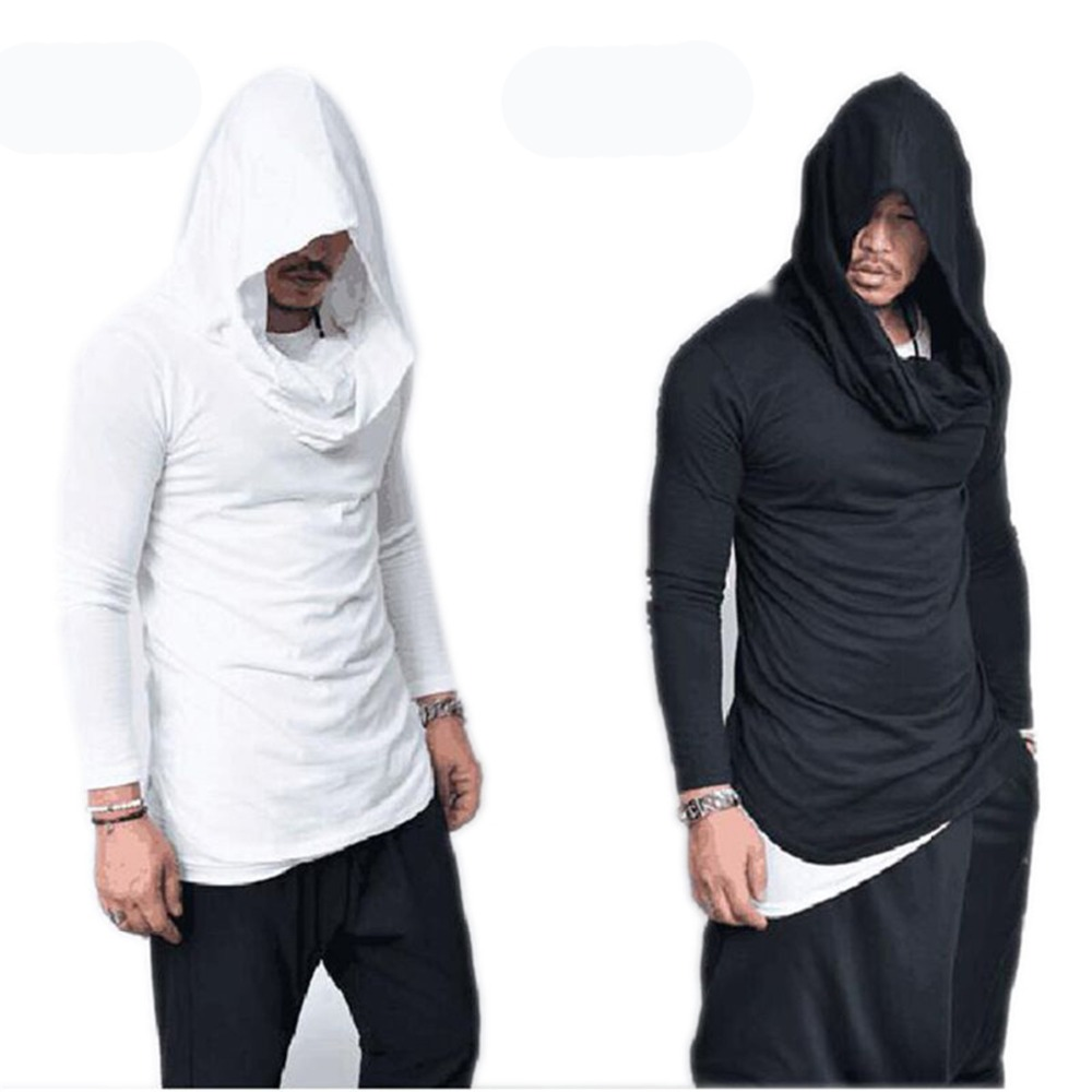 Assassins Creed Men Hoodie Sweatshirt Heap Collar Solid Color Pullovers Male Sporting Tops Winter Tracksuit Hip Hop Streetwear