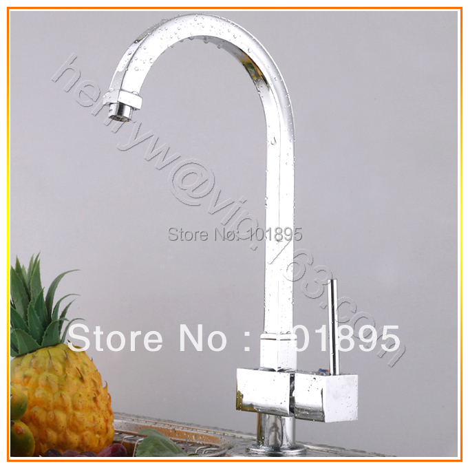 L15773 Luxury Hot Cold Water Chrome Color Brass Sink Tap