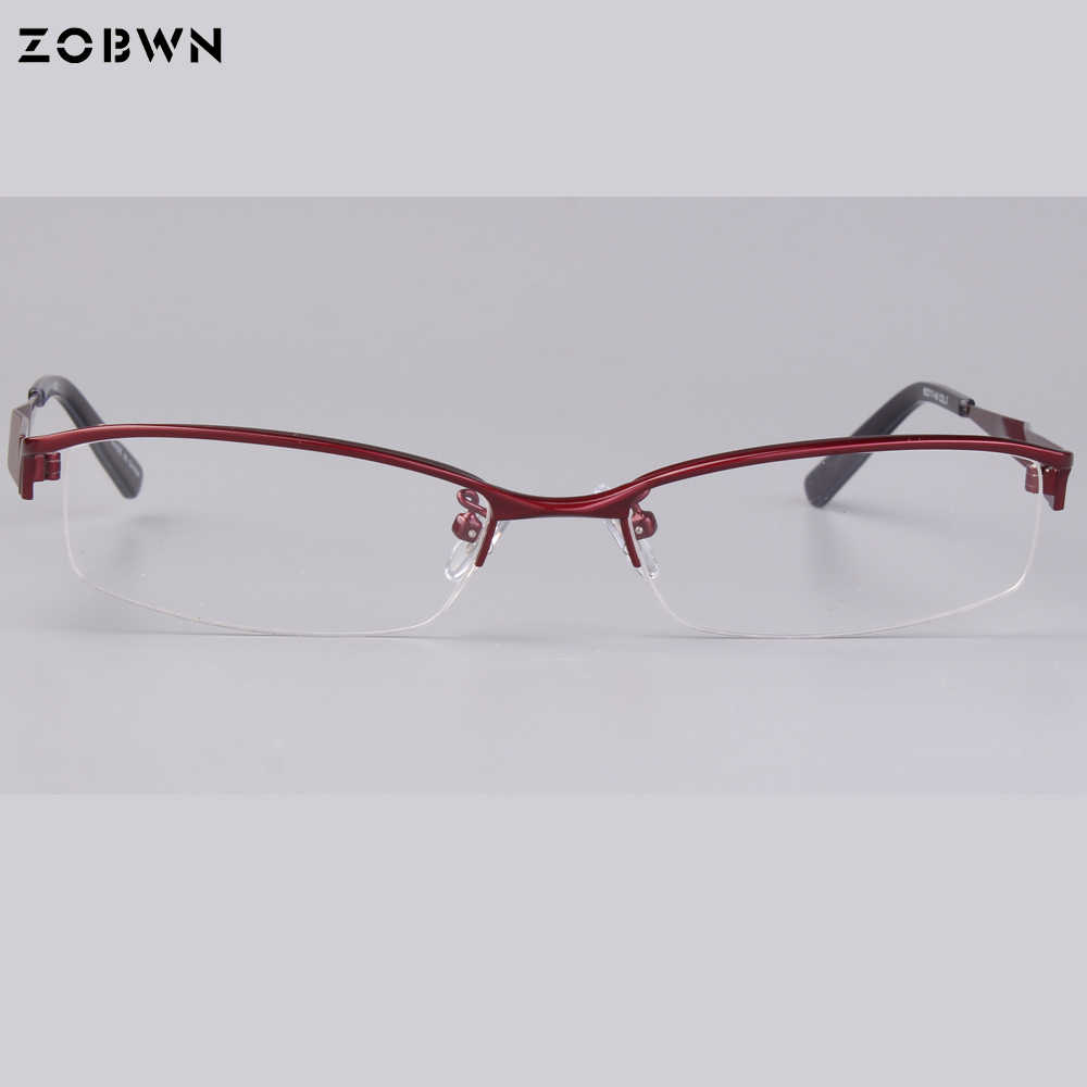 abd617fb4c ... Classic simple eyeglasses women Optical Frame Brand Unisex Glasses  Frame half-rim big size prescription ...