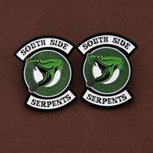 Riverdale South Side Serpants Pin Badge Brooch Riverdale South Side Serpents Snake Brooch Riverdale Jughead Cosplay Jewelry(China)