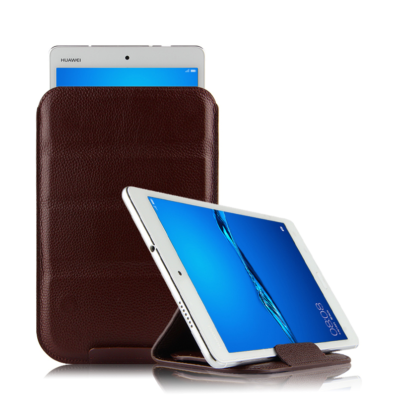 Case Cowhide For Huawei Mediapad T3 10 Protective Smart Cover Genuine Leather T310 Ags-W09 L09 L03 Protector Sleeve 9.6Inch Case