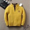 2016 Nueva Marca Primavera Otoño Invierno Ropa de Abrigo Niños Niños 3 Colores Polo Suéter Niños Niñas Casual Cardigans Suéter