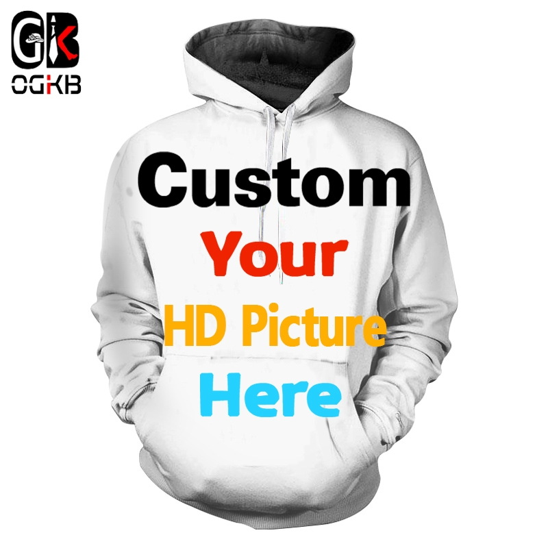 OGKB Customized  Women/men Personalized Custom Picture Tshirt Print Zip Couple Suit Hooded  3D Pants Man Drop Shipper Jackets