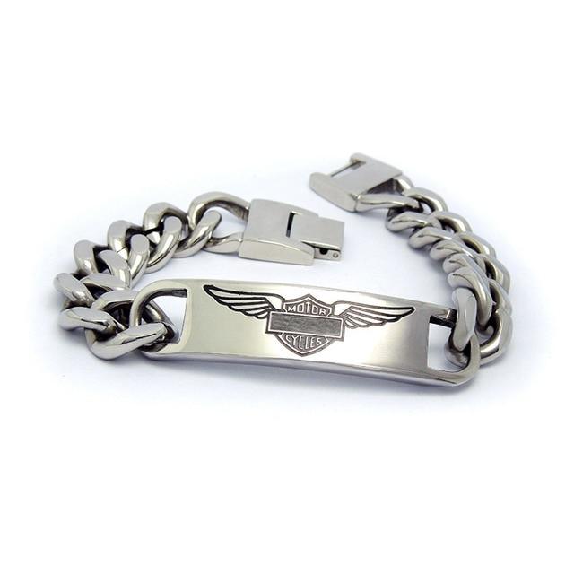Motor harle davidson 316l stainless steel bracelet for men harley