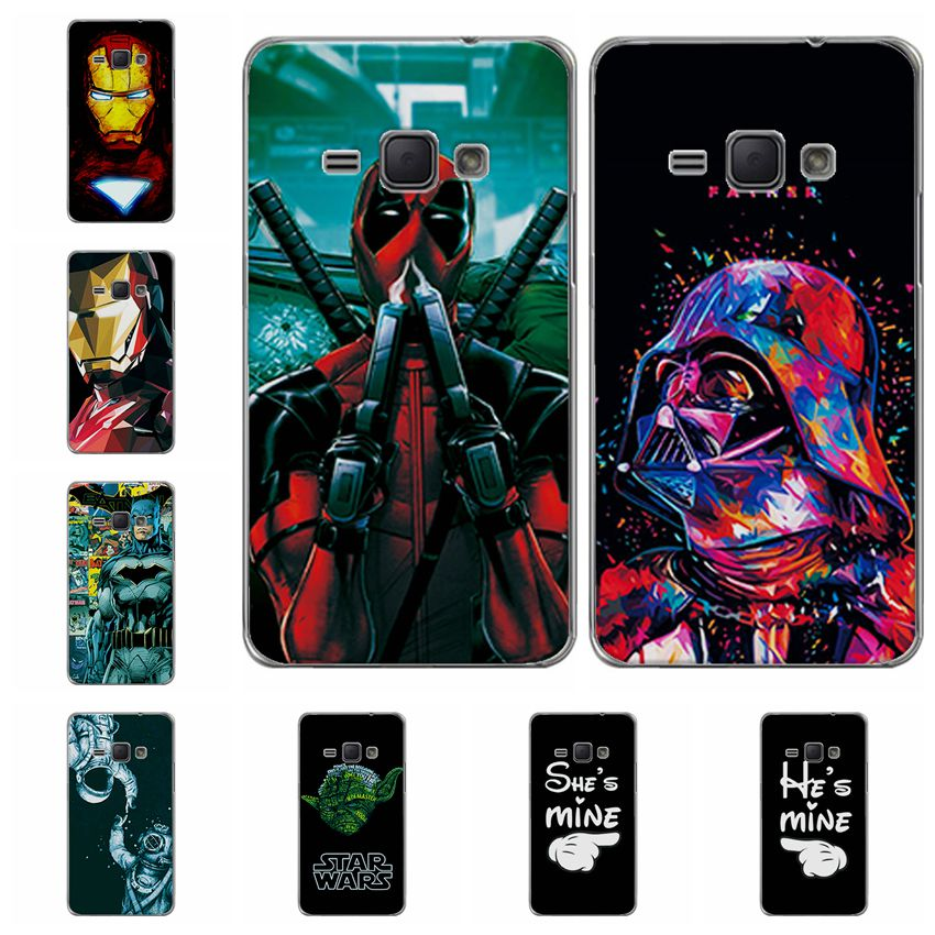 Charming Deadpool Cases For Samsung J1 2016 iron Man Soft Silicone Phone Case For Samsung Galaxy J120 J120F Back Cover Fundas