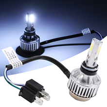 1 Set H4 BA20D 34W LED Hi/Lo Beam Motorcycle Headlight Front Light Lamp Bulb 6500K Motor White Headlamp Aluminum Alloy Housing for victory motorcycles headlight head light led headlamp hi lo high low lamp 6500k for victory cross country motorcycle