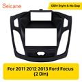 Seicane Автомобильная фасция панель для 2011 2012 2013 Ford Focus 173*98 мм стерео DVD плеер установка рамка окруженная отделка комплект черный цвет