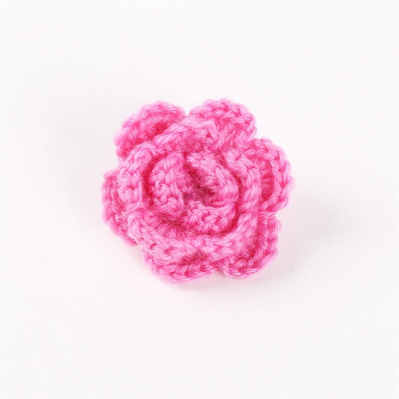 Mdiger Knit Brooches For Women Flower Button Lapel Pins Mens Suits