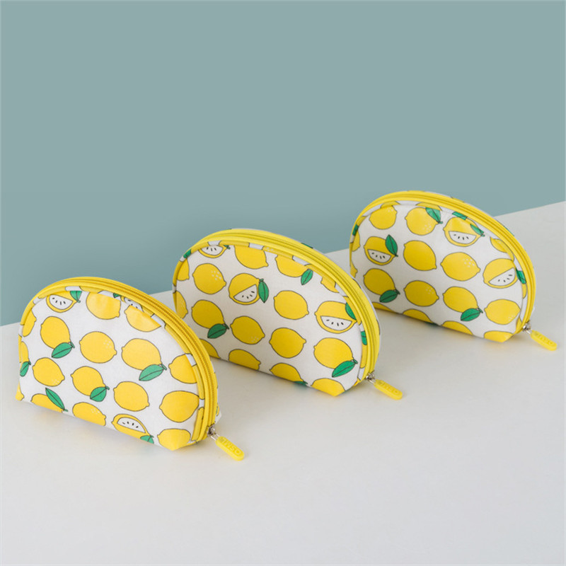 PACGOTH Japanese and Korean Style Shell Shape Cotton Fabric Cosmetic Cases Fashion Girls' Travel Cosmetics Storage Bags 1 Piece