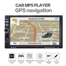 7 inch 7021G Automagnitola 2 Din Car Radio Video MP5 Player BT GPS Navigation Steering Wheel Remote Control Support Rear Camera(China)