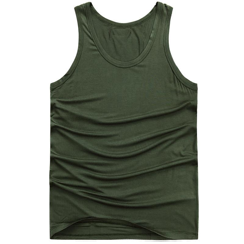 Plus Size M-6XL Cotton Tank Tops For Men Modal Workout Vests Gym Clothing Summer Tank Top Sleeveless Undershirts Man Vest