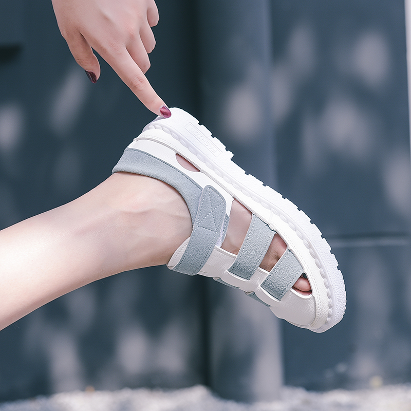 Women Fashion Sandals White Shoes Ladies 2018 Summer Roman Flat Casual Joker Breathable Female Sandals Outdoor Platform Sneakers стоимость