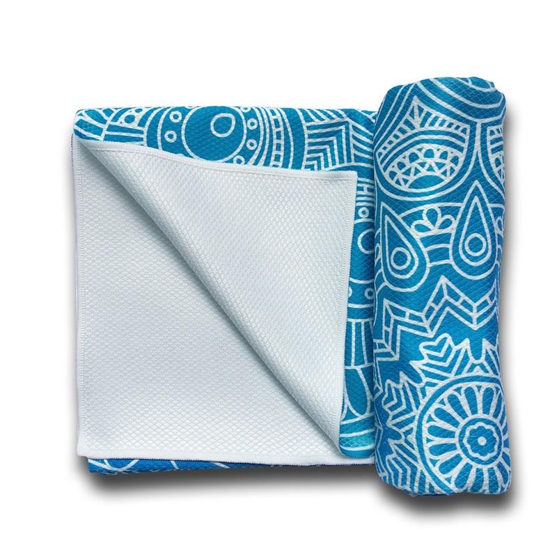 Travel Yoga Mat Or Towel: Classic Mandala Non-Slip Yoga Towel