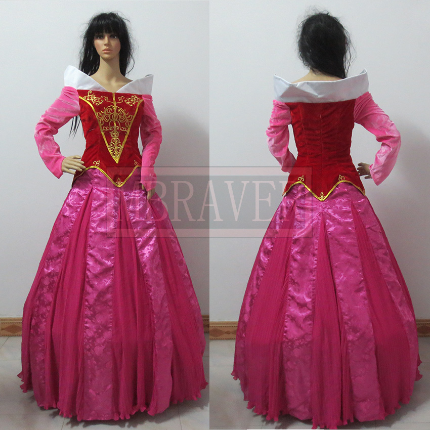 Beautiful Sleeping Beauty Aurora Cosplay Princess Party Dress Custom Made Any Size