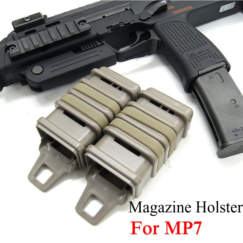 Abay Airsoft MP7 Molle Magazine Pouch Tactical FastMag Holster Military Hunting Accessories Fast Mag Holder