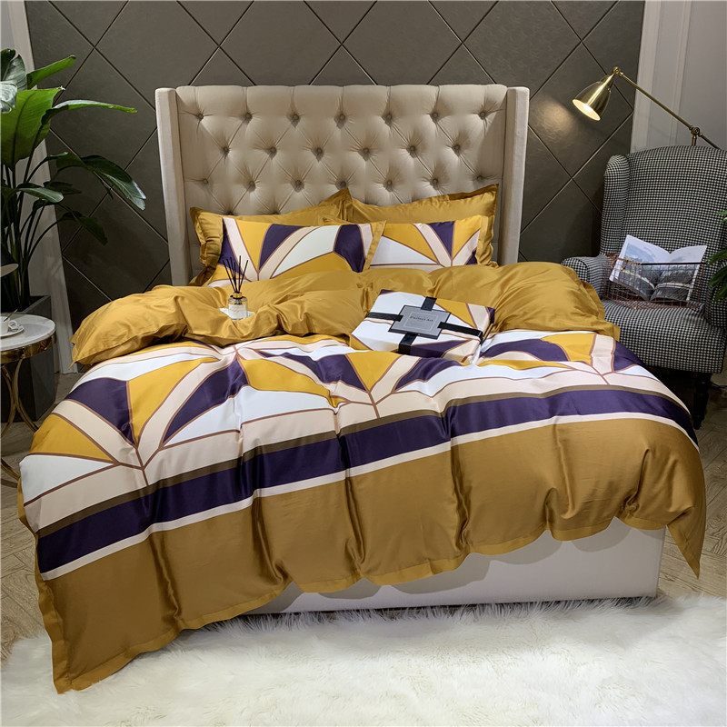 New 60S Egyptian Cotton Bedlinen Luxury Bedclothes Bedcover Fashion Duvet Cover Bedding Set Queen King Size Bed Set