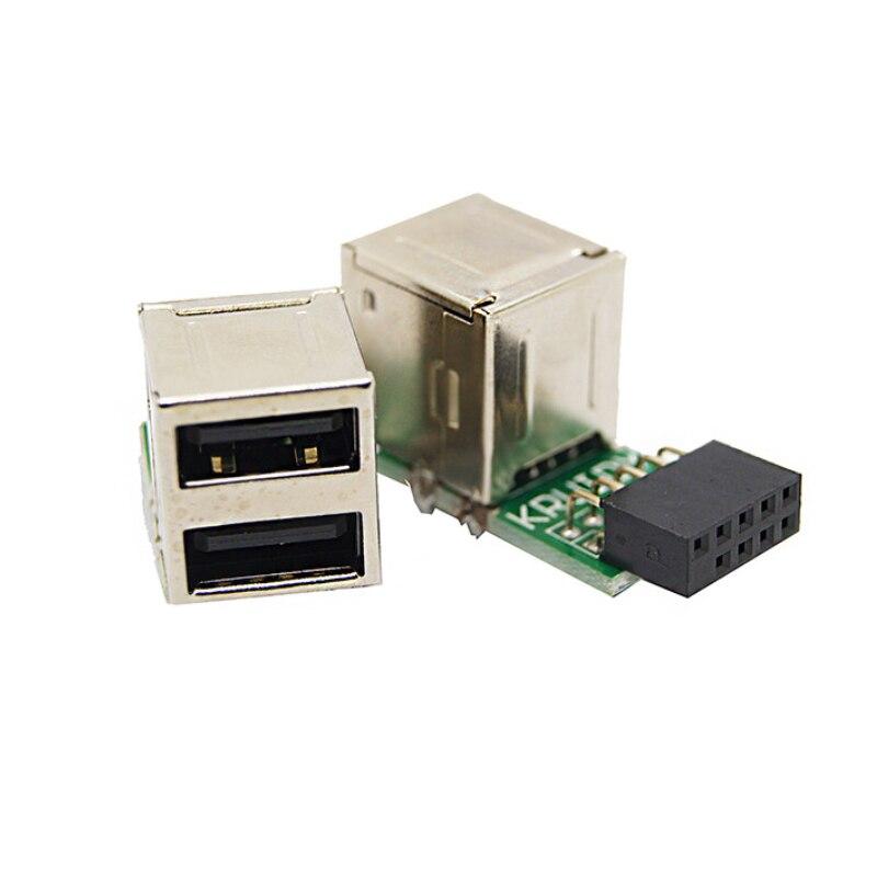 erineva kuju USB Hub 9pin USB 2.0 pin päise Dual USB2.0 A naissoost - Arvuti komponendid - Foto 5