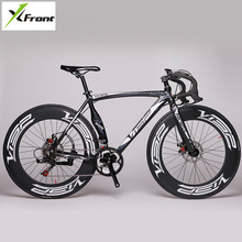 New Brand Road Bike Aluminum Alloy Frame Dual Disc Brake 14 Speed Bicycle Outdoo