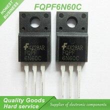 20 шт. бесплатная доставка 6N60 FQPF6N60C 6N60C 600 В 6А N-канальный транзистор MOSFET TO-220F новый оригинальный