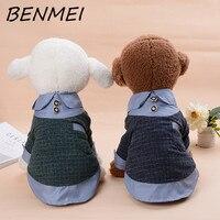 BENMEI Dog Warm Coat Clothes Pets Plaid Shirt Style Coat Pet Winter Warm Soft Dog Jacket Puppy Costumes Plus Size