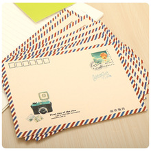 16pcs/lot 17.5*12.5cm Kraft Paper Envelope Korean Creative Retro Love Letter Cute Mail Post Postcard