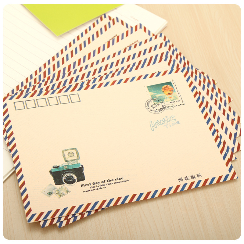 Kraft Paper Envelope Korean Creative Retro Creative Love Letter Cute Mail Post Postcard Envelope 16pcs/lot 17.5*12.5cm