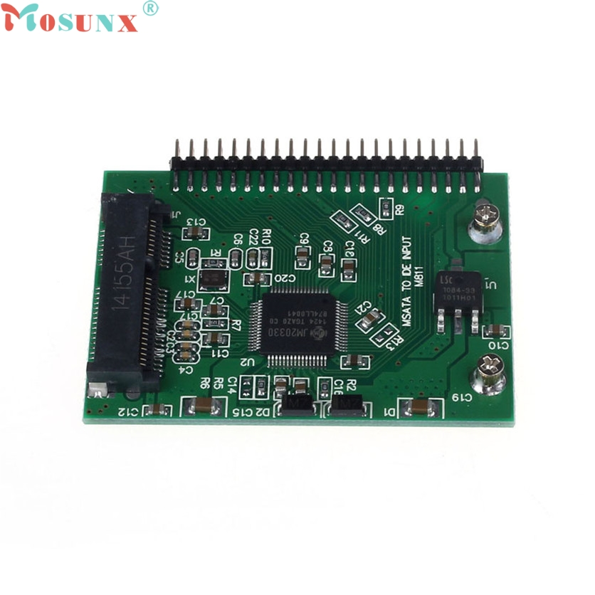 Mosunx Factory Price mSATA SSD To 44 Pin IDE Converter Adapter As 2.5 Inch IDE HDD For Laptop 60321 factory price mosunx 2 in 1 mini pci e 2 lane m 2 and msata ssd to sata iii 7 15 pin adapter drop shipping drop shipping