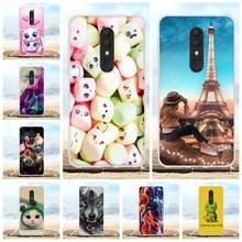 For Alcatel 3 2019 3L Cover Ultra Thin Soft Silicone Case Beach Patterned Funda Bag