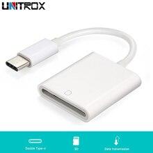 Przenośna ładowarka USB 3.1 typu C USB C do SD karty SDXC aparat cyfrowy czytnik kabel do Macbooka telefon komórkowy Samsung Huawei Xiaomi