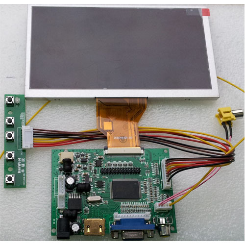 Hdmi+vga+2av Controller Board+6.5inch At065tn14 800*480 Cd Panel Luxuriant In Design Back To Search Resultscomputer & Office