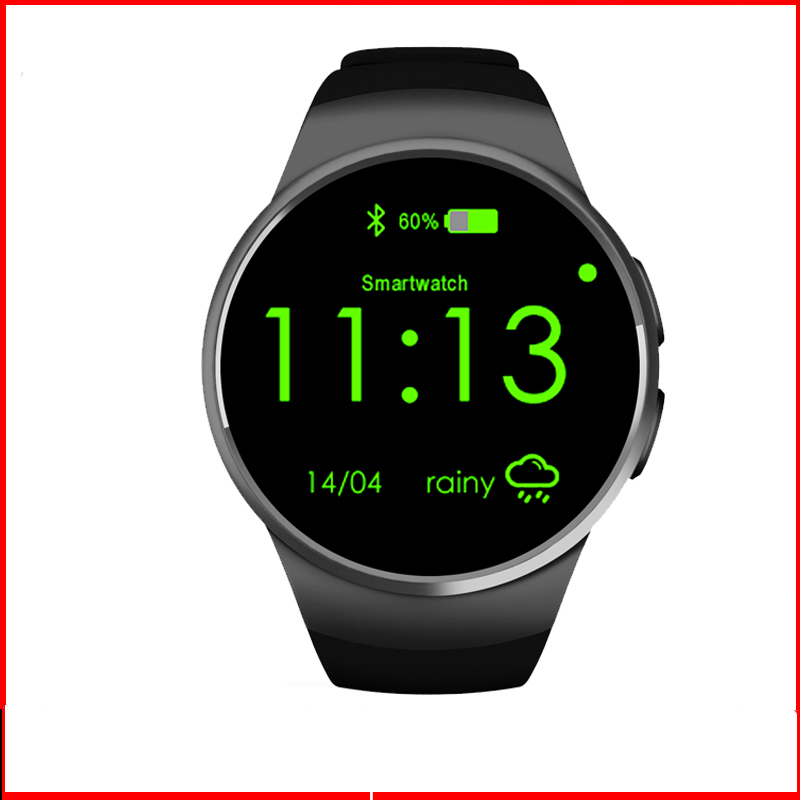 KW18 Smart Watch Support IOS Android Daily life Watchproof Built in Fackbook Wechat etc Bluetooth 4