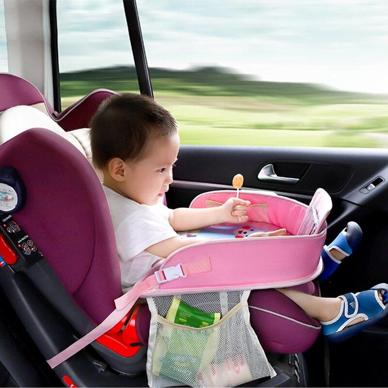 Joormom Auto Sicherheit Sitz Platte Multifunktionale Baby Essen Ziehen Tabelle Wasserdichte Baby Kinderwagen Tragbare Cartoon Tisch Tablett Elegant Und Anmutig
