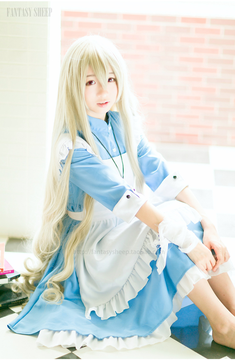 Free shpping sex costume maid Sakura jasmine anime maid cosplay japanese maid costume Alice